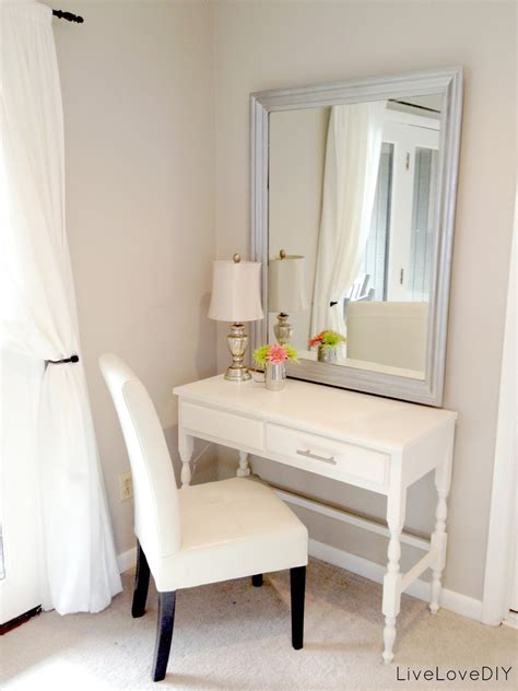 makeup vanity ideas for bedroom thrift store desk turned bedroom vanity table seen here livelovediy my top 10 thrift store