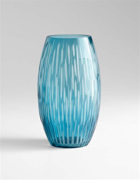 Glass Decorative Vases Large Klein Blue Glass Vase By Cyan Design