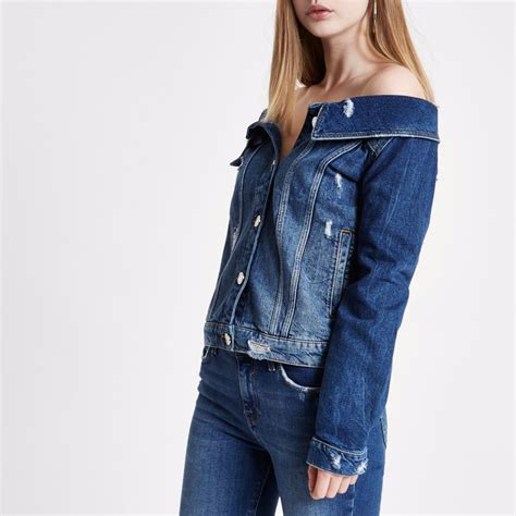 Ripped Jacket mid blue ripped denim jacket coats jackets sale