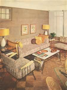 Post War Living Room 1953 Sun Porch Post War Interior Design Mid Century
