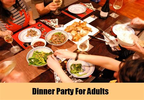 unique ideas for adults how to organize a - Dinner For Adults