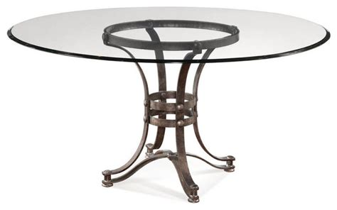 Glass Top Metal Base Modern Dining Table W Frosted Glass Bassett Mirror Tempe 60 Inch Glass Dining Table W Metal Base Industrial Dining Tables