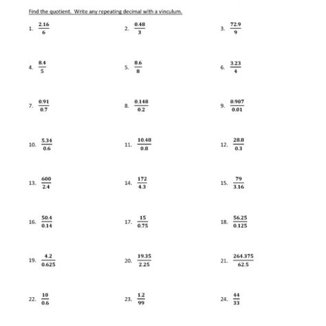 printable math worksheets on dividing decimals divide decimals math worksheets printable divide best