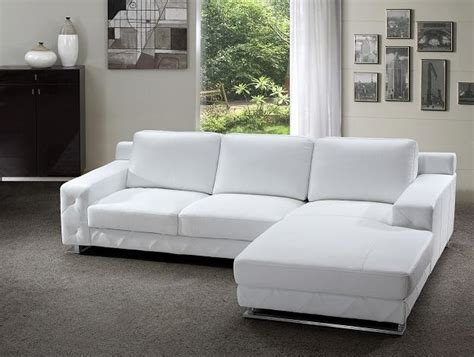 White Modern Sectional Sofa Modern Sectional Sofa In White Leather Modern Living Room Other By Eurolux Furniture