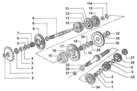 2t motocross gear gear box motor 2t 125 smr 125 2014 varaosat