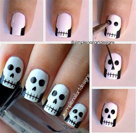 easy nail art halloween 20 easy step by step halloween nail art tutorials for