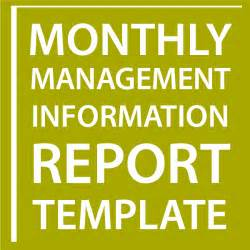 report to senior management template monthly management information report template sell your