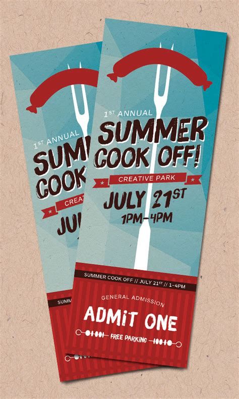 design of event tickets product recipes create a summer event ticket creative
