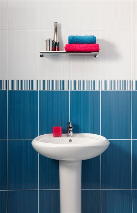 Bathroom with blue and white tiles with amazing style eyagci com