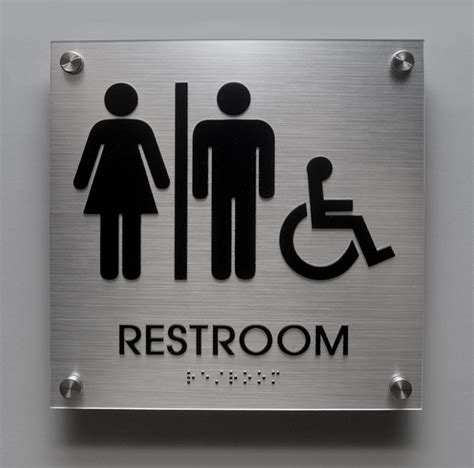 ada bathroom signs stylish restroom signs with grade 2 braille cool