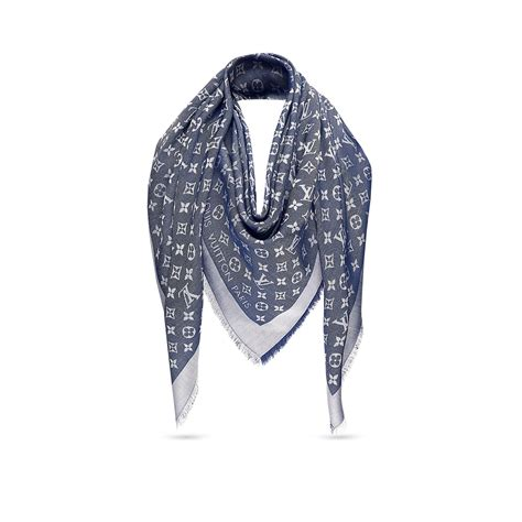 monogram denim shawl accessories louis vuitton