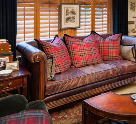 ralph living room furniture decorate for fall with classic tartans and plaids