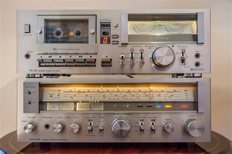 mini hi fi systems with cassette deck golden age of audio sony tc u5 hi fi stereo cassette deck