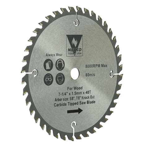 8 Table Saw Blade by Table Saw Blades For Wood Carbide Tipped 7 1 4 Quot Inch X 40