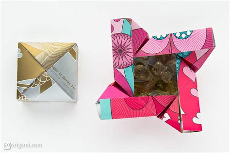 Easy Origami Gifts - origami boxes by robin glynn and sprung go origami
