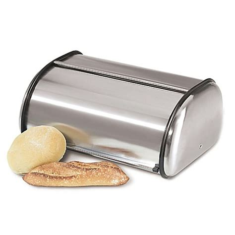 bed bath and beyond bread box oggi stainless steel roll top bread box bed bath beyond