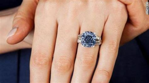 benitoite engagement ring shirley temple s blue ring up for auction cnn com