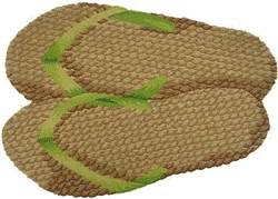 washable hand hooked americana flip flops accent rug kitchen rugs sea grass sandals rug by designer dean miller