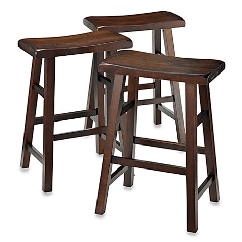 bed bath and beyond stools parker 3 piece saddle stool set bed bath beyond