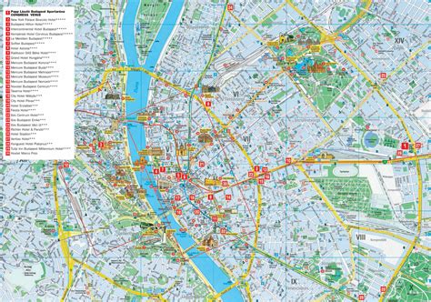 Detailed Search Tourist Attractions In Budapest Map