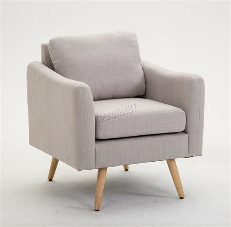 Armchair With Stool Foxhunter Modern Fabric Armchair Lounge Tub Chair With