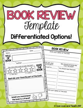 book recommendation cards template book review template free by live and teach tpt