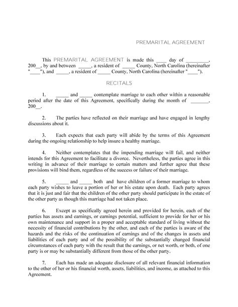 30 Prenuptial Agreement Sles Forms Template Lab Prenuptial Template Form