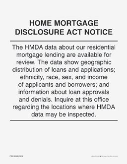 home mortgage disclosure act notice free shipping
