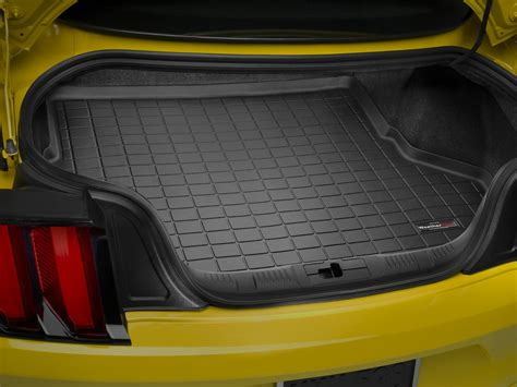 Weathertech Trunk Mat by 2015 2017 Mustang Weathertech Cargo Trunk Digitalfit Floor Mat Black 40727