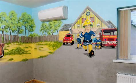 fireman sam wall mural boy s room mural with cars mcqueen mater buzz lightyear fireman sam and the tank
