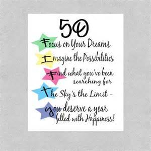 items similar to 50th birthday card milestone birthday card follow your dreams card