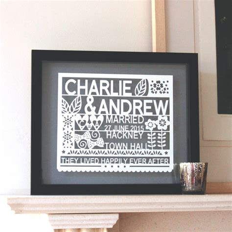 gifts for wall street guys personalised wedding gift for same sex couple by ant