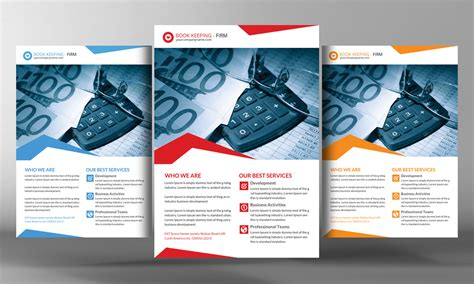 book keeping accounting service flye flyer templates on