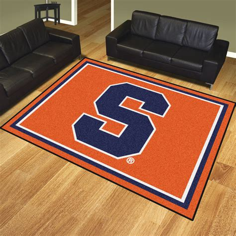 syracuse orange area rug 8 x 10