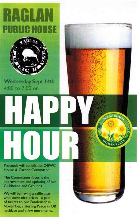 raglan public house happy hour for obwc at raglan public house ocean beach san diego ca news