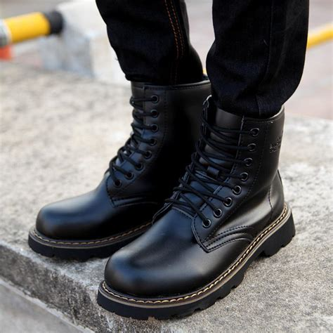 Sepatu Boots Style Black high fashion mens boots boot ri