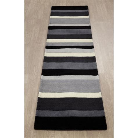 Striped Runner Rug Grey Striped Wool Rug Carpet Runners Uk