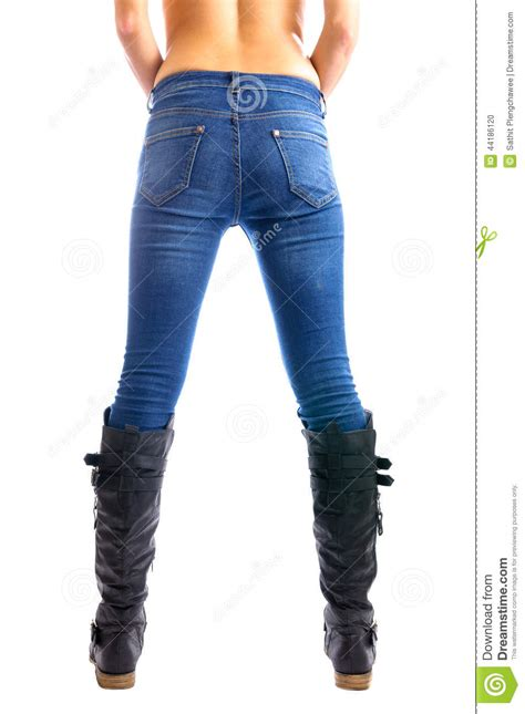 jeans swing com women s in tight jeans stock photo image 44186120