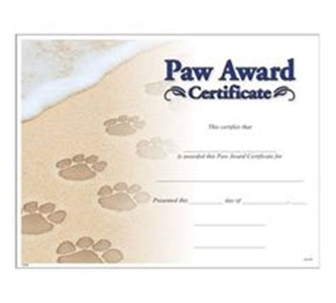 jones certificate templates 1000 images about paw awards on award
