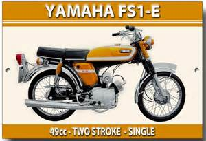 Stang Seher Yamaha Dt 100 X Ori Japan yamaha fs1e metal sign vintage japanese motorcycles metals motorcycles and ebay