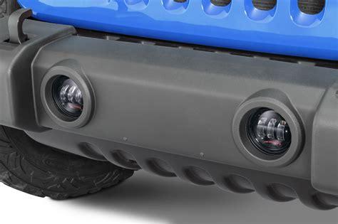 jeep wrangler jk led fog lights j w speaker 6145 j2 series led fog lights for 07 18 jeep