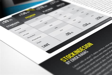 20 Premium Table Styles For Indesign Stockindesign Indesign Table Styles Templates Free