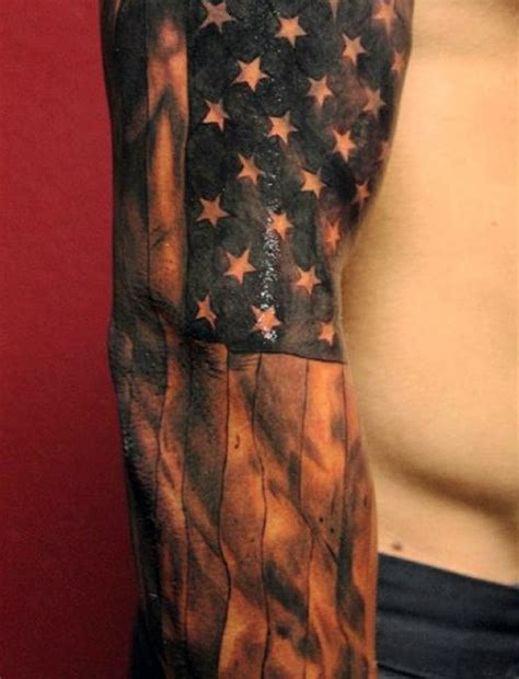 black and white flag tattoo top 60 best american flag tattoos for usa designs