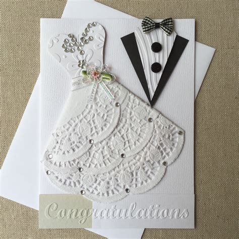Handmade Cards Etsy - handmade wedding card
