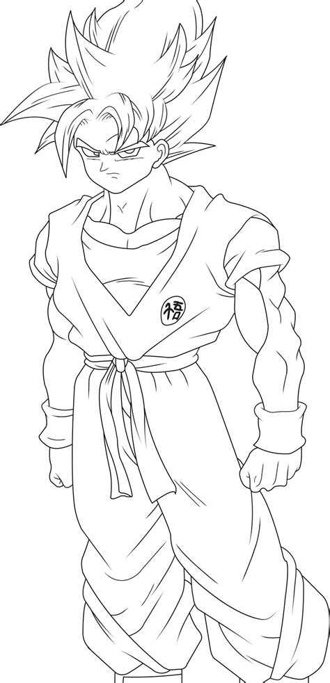 Coloring Page Goku by Goku Coloring Pages Coloring Pages To Print
