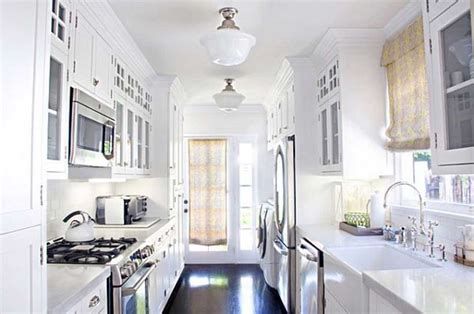 White Kitchen Lighting Awesome White Galley Kitchen Design Ideas For Your Inspiration Home Interior Exterior
