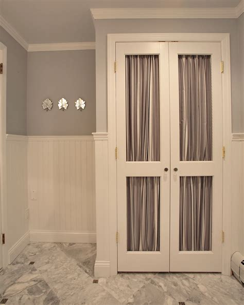 linen closet doors bathroom transitional with bathroom
