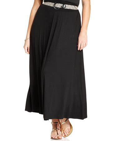 agb plus size belted maxi skirt skirts plus sizes macy s