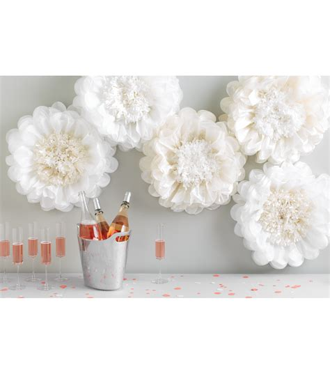 Martha Stewart Crafts Paper Flowers - martha stewart tissue paper pom pom kit white flower