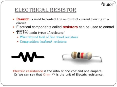 define resistors electricity and ohm s
